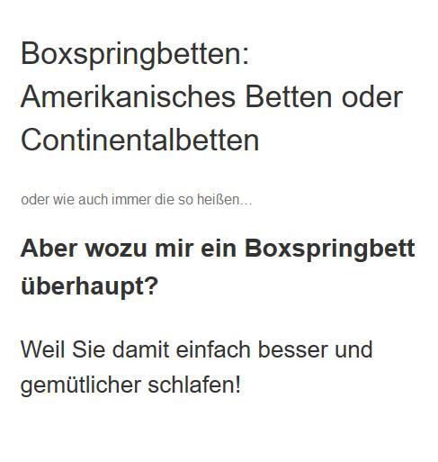 Boxspringbetten in Bonn - 🥇 Amerikanische Betten Center: Wasserbetten, Matratzen, Lattenroste, ✅ Bettenfachgeschäft, Kissen